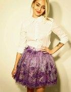 Spódnica tiulowa fioletowa cekiny Lana Nguyen