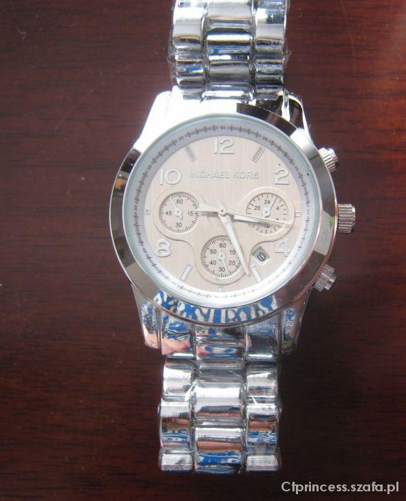 73fb4d6146034 MICHAEL KORS srebrny zegarek NOWY boyfriend LATO w Zegarki - Szafa.pl