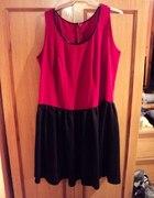 czerwono czarna sukienka duża XXL 2XL...