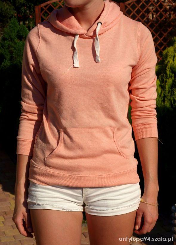 morelowa brzoskwiniowa bluza