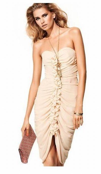 sukienka falbany hm