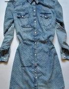 Sukienka Jeansowa W Kropki...
