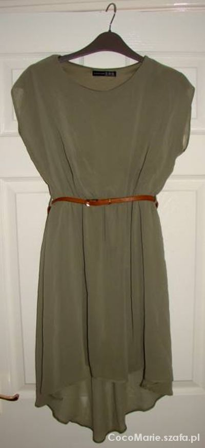 Atmosphere sukienka oliwkowa khaki mgiełka L 40...