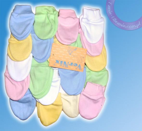 Dodatki Rękawiczki dla noworodka łapki niedrapki Kolory