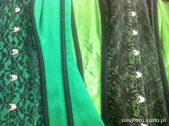 Gorsety green lace