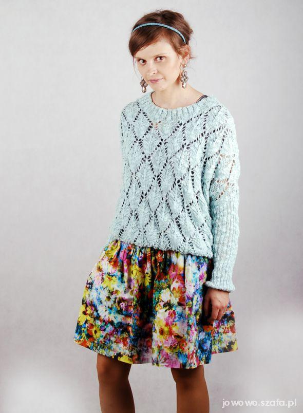 Mój styl Spódnica Zara FLORAL Łączka kwiatki