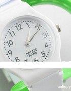Biały sportowy zegarek Nowy