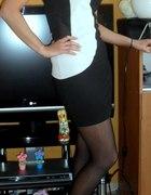 Biało czarna sukieneczka...
