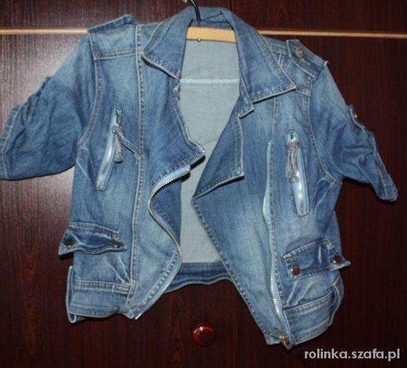 8f60d4f3 kurtka jeansowa z krótkim rękawem S w Odzież wierzchnia - Szafa.pl