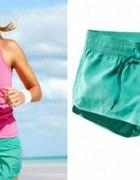 Kupie szorty H&M sport mietowe rozowe 34 36 38