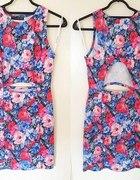 Sukienka w kwiaty z wycięciami Atmosphere