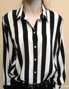Koszula w pionowe paski biało czarne SZUKAM