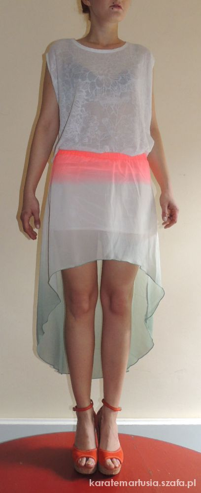 Spódniczka asymetryczna ombre neon amisu newyorker