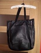 skórzana shopper bag