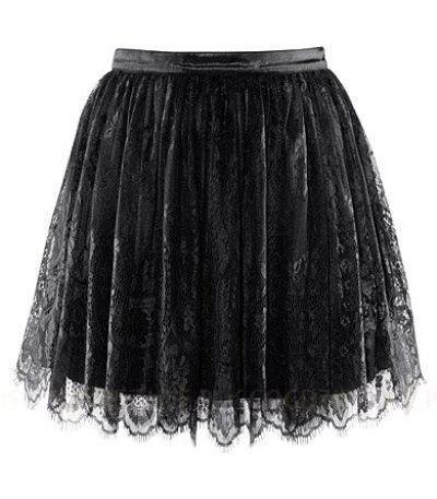 Czarna koronkowa spódniczka H&M
