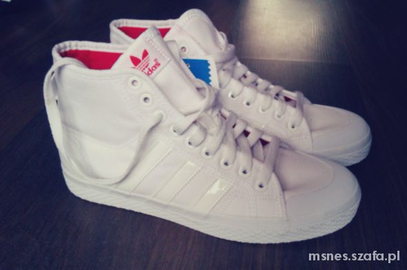 buy online 8a466 ba962 Trampki Adidas Honey Mid White