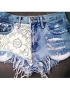 jeansowe koronkowe