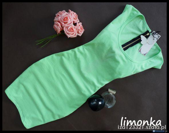 Suknie i sukienki SUKIENKA TUNIKA ZŁOTY ZAMEK