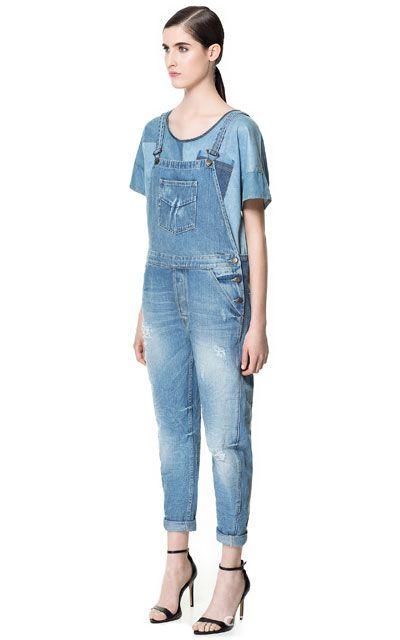 ogrodniczki kombinezon jeansowy S M