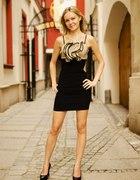 Lady in dress...