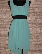 Asymetryczna sukienka Mięta Suuuper