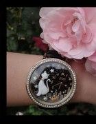 Midnight Cat Gold Mini Watch