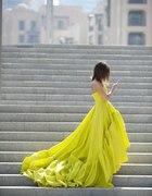 sukienka neonowa