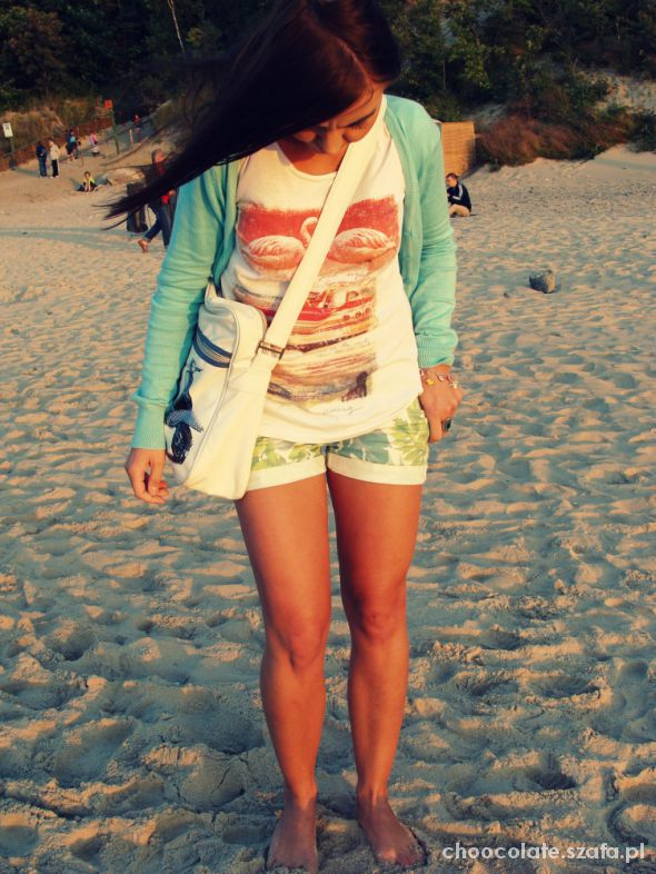 Mój styl wieczorny spacer po plaży
