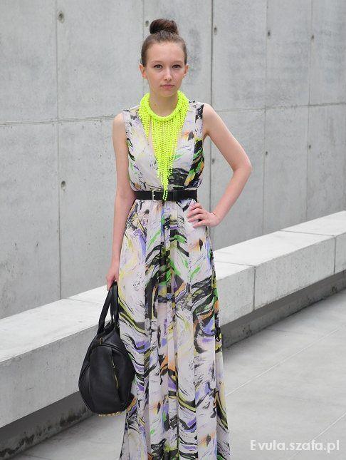 Suknie i sukienki piekna maxi i ten naszyjnik