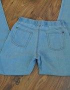 tregginsy denim błękitny jeans