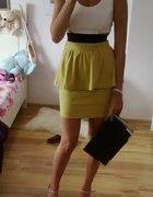 sukienka ecru limonka baskinka neon