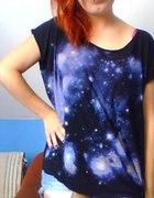 Blogerska galaxy bluzka oversize