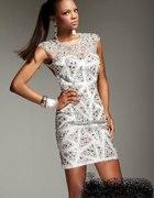 diamenty cekiny sukienka plecy