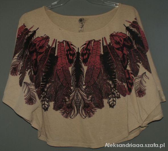 Bluzka ptak motyl boho