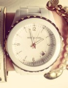 Biały zegarek Michael Kors złoty