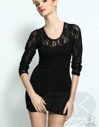 mała czarna sukienka z koronki S