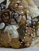 Bukiet ślubny złoto i ecru...