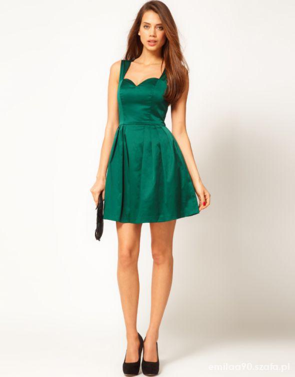 sukienka szmaragdowa 36
