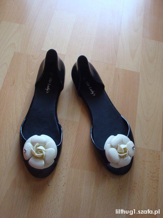 meliski gumowe baleriny z kwiatkiem 39