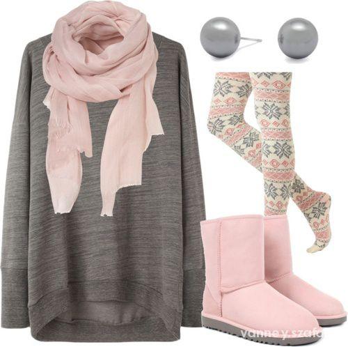Lekki różowy outfit