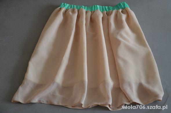 Spódnice nowa nude beżowa szyfonowa spódnica