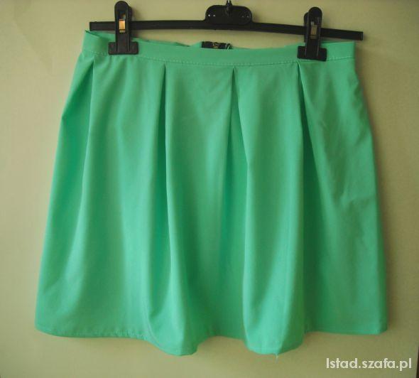 Spódnice NOwa mietowa spódnica rozkloszowana z suwakiem