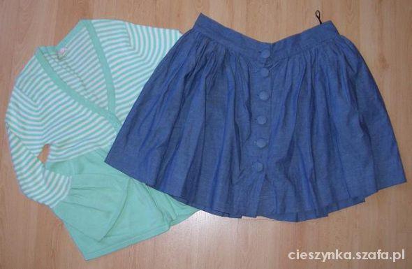 Spódnice spódniczka oraz miętowy sweterek Atmosphere 38 M