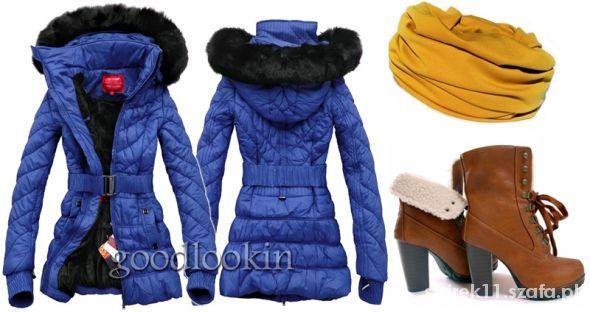 kurtka na zime rozmiar36 niebieska