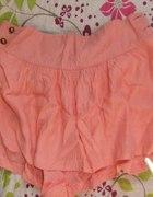 spodenki różowe spódnico spodenki szerokie...