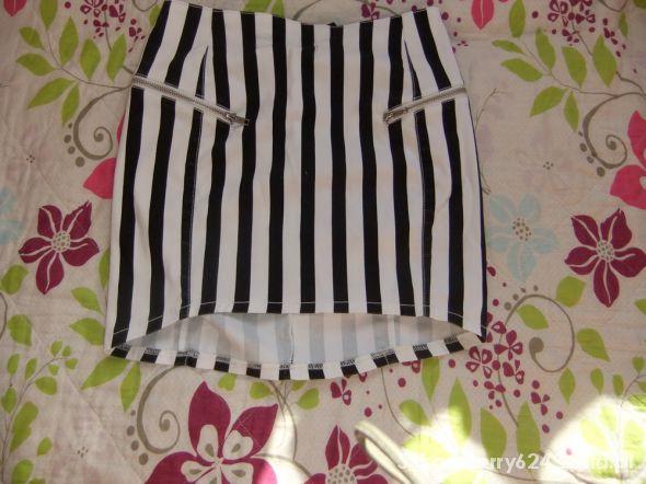 Spódnice spódnica asymetryczna w paski h&m