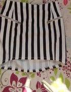 spódnica asymetryczna w paski h&m...