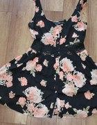 sukienka TOPSHOP róże