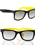 Zółte okulary Ray Ban Wayfarer...