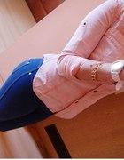 jeansowa brzoskwiniowa marmurka...